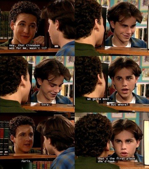 """When he felt sheepish about leaving Cory a Cinnabon.   Community Post: 37 Times Shawn Hunter From """"Boy Meets World"""" Was A Total Dreamboat"""