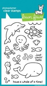 Lawn Fawn CRITTERS IN THE SEA Clear Stamps               $14.99