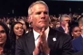 "Brett Favre makes the ESPYs uncomfortable for everyone, appearing to be ""tipsy,"" giving hand gestures, long stares and glares, delayed speech when showing his opinions about specific parts of the awards ceremony. 