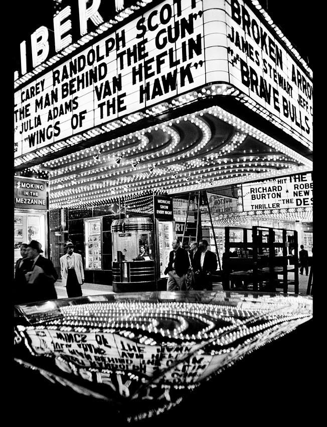 William KLEIN :: Wings of the Hawk, 42nd Street, NYC, 1955