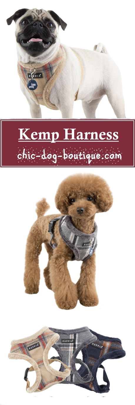 The Puppia Kemp Harness is a high quality fleece-lined dog harness perfect for those chilly outings with your pet. This Winter harness has a classic plaid pattern and comes in your choice of beige, melange grey or navy colors. The Puppia Kemp Dog Harness is adjustable and easy to use - simply slip the harness over the dog's head, adjust the chest belt to fit and snap the quick-release buckle together.
