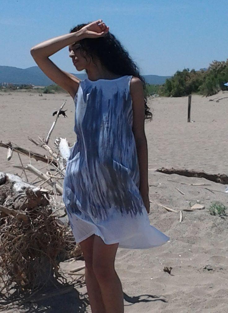 Painted dress #BRAS Cotton 100% Vestido pintado #BRAS 100% Algodón https://www.facebook.com/brasdb/