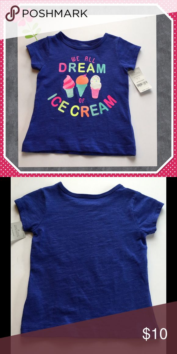 Girls Ice Cream T-Shirt Girls ice cream t-shirt, 100% Cotton Carter's Shirts & Tops Tees - Short Sleeve