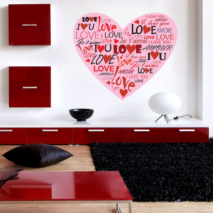 Wonderful Home Gallery Bedroom Stickers For Girls Love Heart Wall Sticker Photo Gallery