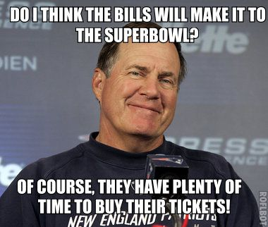 New England Patriots Coach Belichick's thoughts on the Buffalo Bills playoff chances!