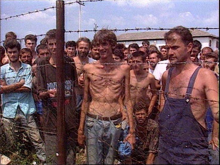 11 Aug Manjaca, Prijedor - Bosnia and Herzegovina --- Bosniak (mainly) and Croatian civilians in Serb Concentration Camp During Bosnian Genocide