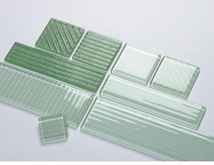 Ultraglas Ribbed Glass Tile 106 Ea Materials Glasses