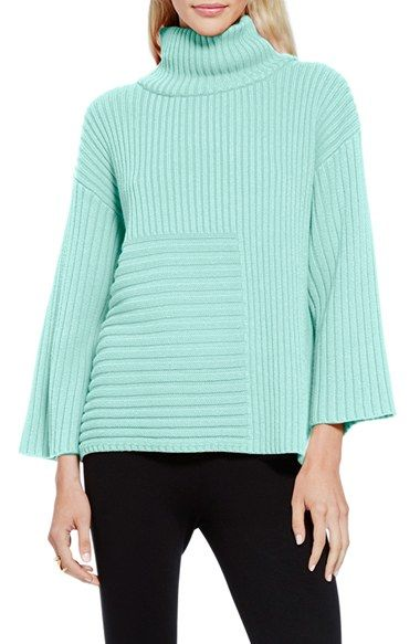 Vince Camuto Ribbed Turtleneck Sweater (Regular & Petite)
