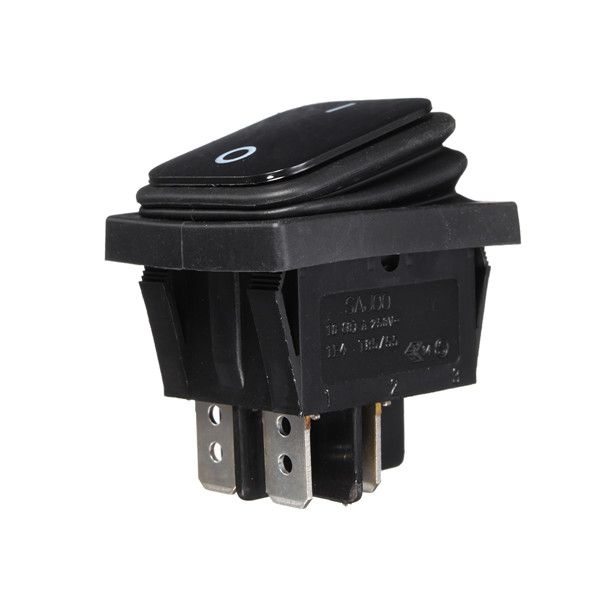 WA2P-30 Rocker Switch Waterproof Switch On-Off Switch  Description: WA2P-30 Rocker Switch Waterproof Switch On-Off Switch Specification: Model WA2P-30 Position On-Off Rated voltage 16A 125V 8A 250V Working voltage 250 (V) Operating current 16 (A) Contact resistance 5 (m) Insulation resistance 5000 (M) Electrical life 10000 (times) Product certification ROHS 3C rated voltage range 440V or more Color black Overall size 39 x 29 x 4.5 mm Features: WA2P-10 waterproof ship type switch the product…