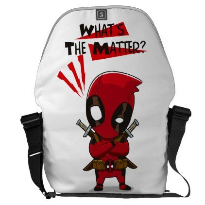Large Messenger Bag Outside Print Deadpool - accessories accessory gift idea stylish unique custom