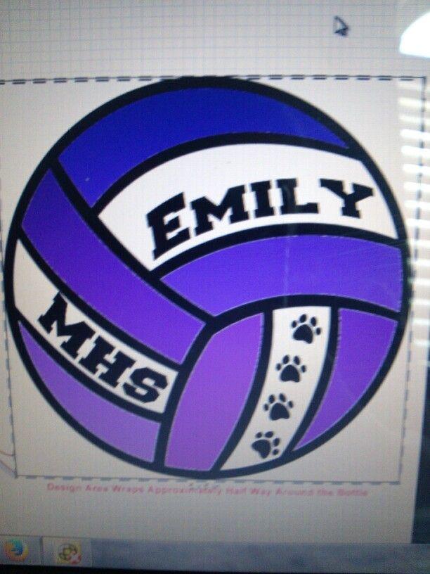 Volleyball magnet locker sign