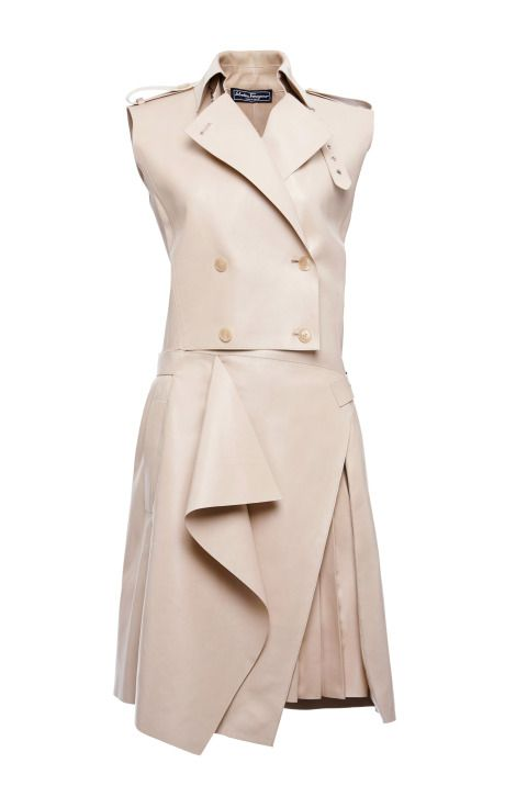 Tailored Lambskin Trench Dress by Salvatore Ferragamo