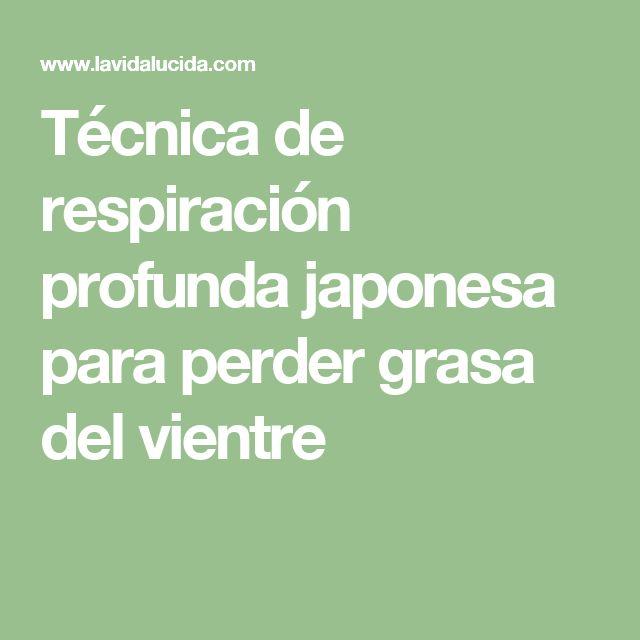 Técnica de respiración profunda japonesa para perder grasa del vientre
