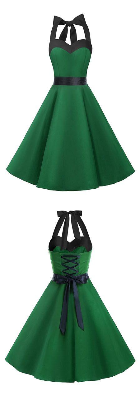 vintage style dress,rockabilly dresses,50s dress,fashion halter dress,ruched retro dresses