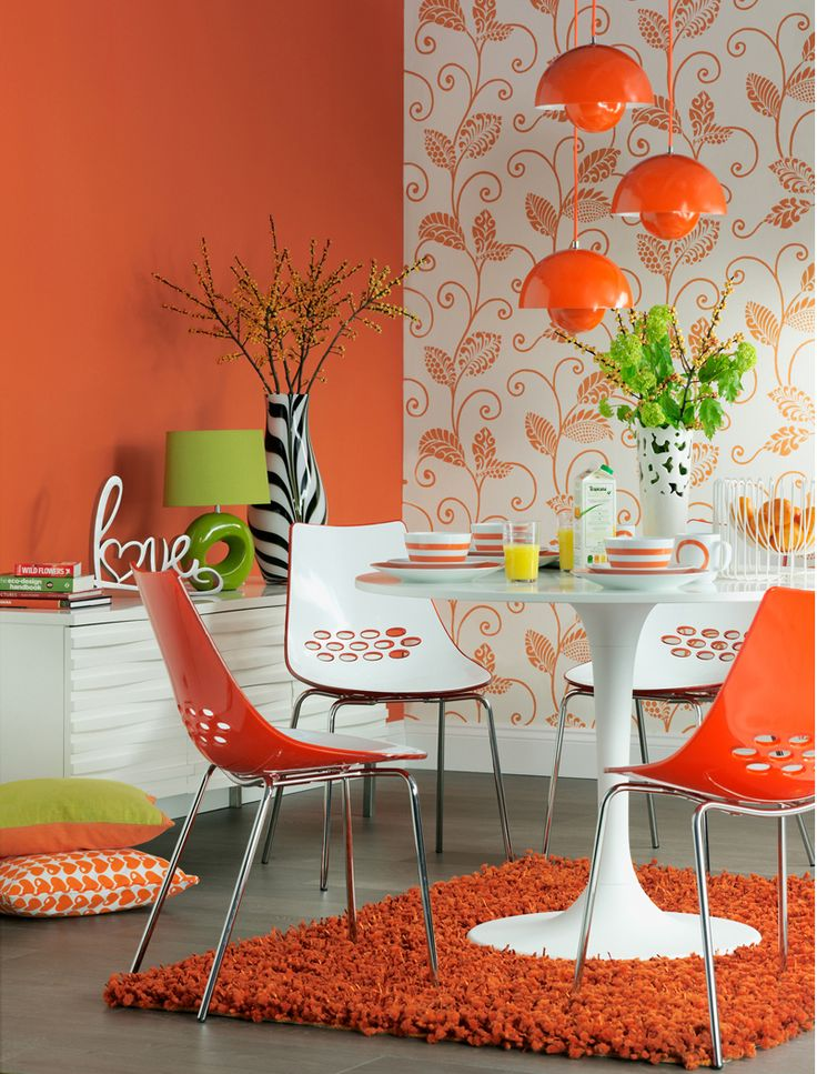 Orange Dining Room 188 best dining room images on pinterest   dining room, curtains