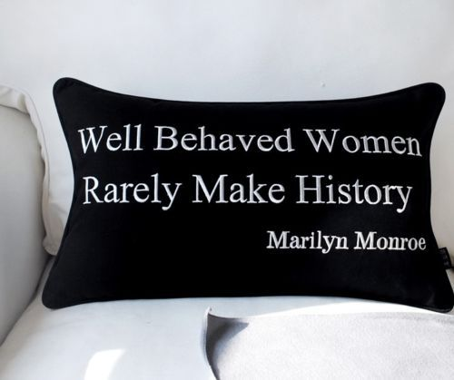 This one will go on my Gorgeous Chair ! New-Marilyn-Monroe-Audrey-Hepburn-Quote-Throw-Pillow-Case-Lumbar-Cushion-Cover