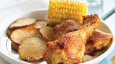 Skip the deep fryer and make this crispy, juicy oven-baked chicken recipe. With butter, Bisquick™, paprika and a dash of salt and pepper, this chicken comes to life for a foolproof dinner that tastes as great as classic fried chicken without all of the mess.