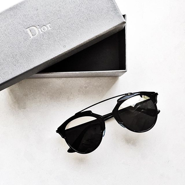 We are in love with the Dior So Real sunglasses in black.