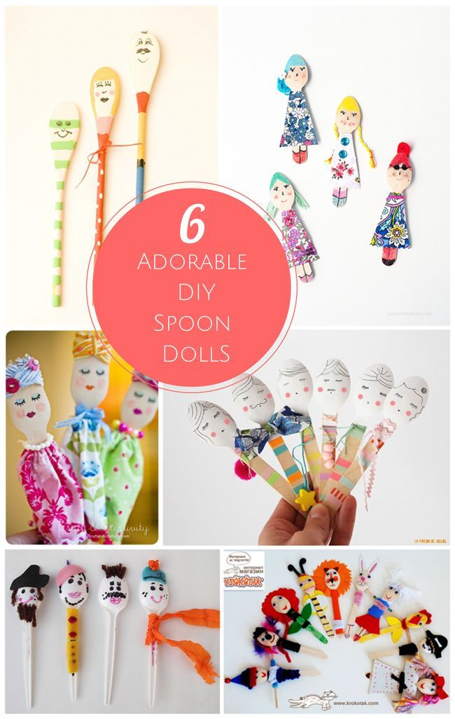 Adorable and creative spoon puppet dolls! These are so much fun for kids and adults to make together.