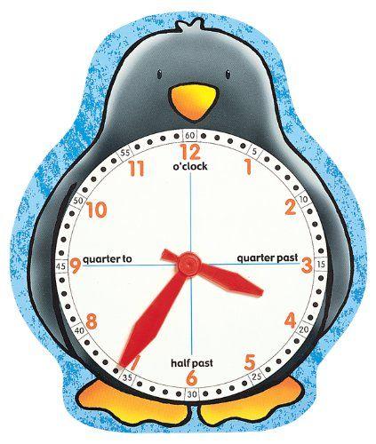 """""""Penguin Clock Face"""" è una risorsa molto utile per la classe e perfetta da utilizzare in casa per le famiglie che hanno i bimbi in classe terza, quando si inizia a leggere l'orologio."""