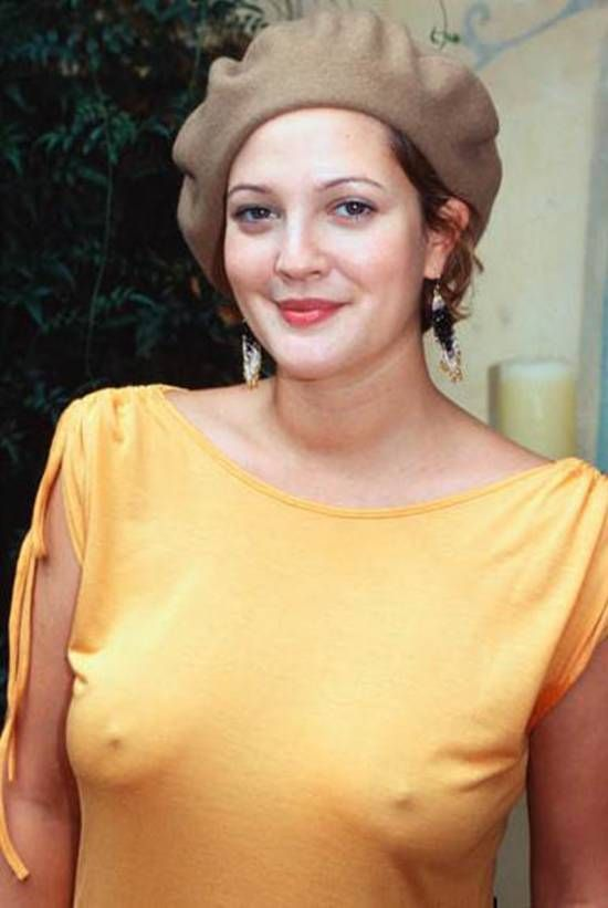 drew barrymore nipples