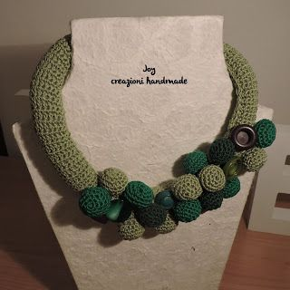 crochet necklace Joy Le Borse Hand-made: Verde Speranza