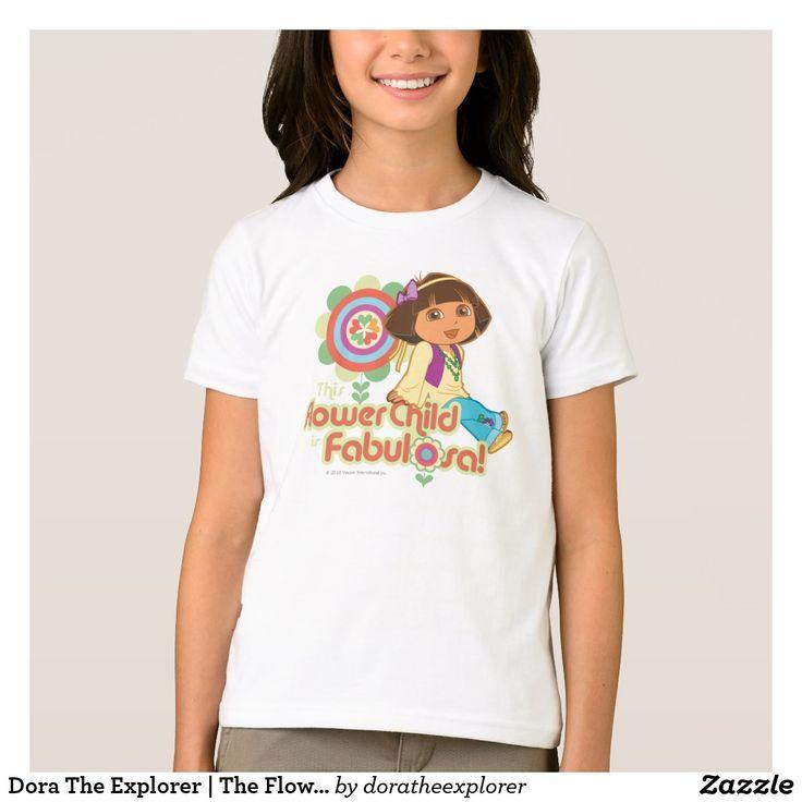 Dora The Explorer | The Flower Child Is Fabulosa! T-Shirt. Producto disponible en tienda Zazzle. Vestuario, moda. Product available in Zazzle store. Fashion wardrobe. Regalos, Gifts. Trendy tshirt. #camiseta #tshirt