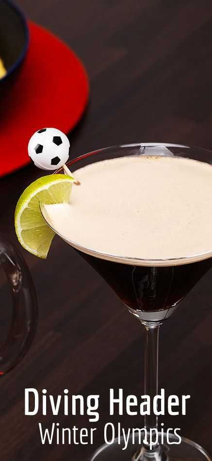 A strikingly dark coloured drink, Diving Header combines delicious Captain Morgan Original Spiced Gold and toasty, rich GUINNESS® for a cocktail with a difference. It looks as good as it tastes – enjoy the creamy head and powerful flavours with friends and great sport.#WinterOlympics #WinterCocktails #OlympicsCocktails #WinterDrinks #WinterWarmers #Winter #Mixology #CocktailRecipes #Cocktails #CocktailRecipe #Drinks #DrinkInspiration