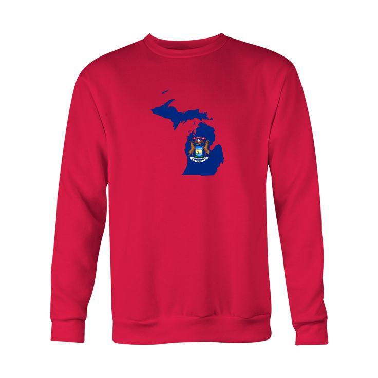 *HOLIDAY SPECIAL* Michigan Flag Crewneck Sweatshirt