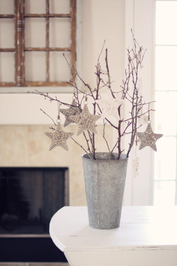 Estrellas y ramitas para una Navidad escandinava