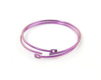 Fuchsia Niobium Earring Hoops Hot Pink Jewelry Findings