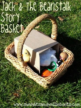 Bring a story to life with homemade story baskets. Some great ideas here for classic stories like Jack and the Beanstalk and the 3 Little Pigs. You can make one for any story or book. From Sun Hats and Wellie Boots.