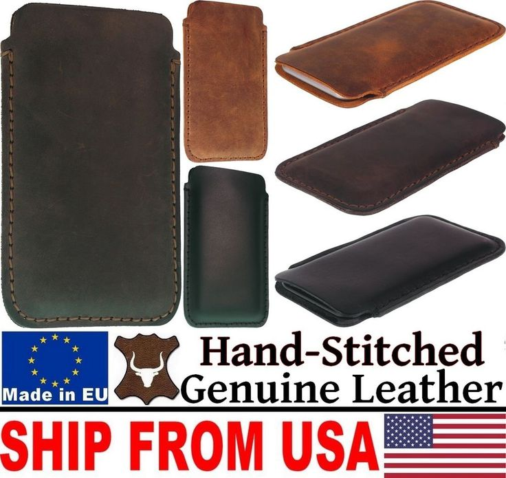 # HAND STITCHED GENUINE LEATHER POCKET CASE COVER SLEEVE POUCH FOR MOBILE PHONES #UnbrandedGeneric