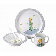 Dětský jídelní set Malý princ, šedý - 0