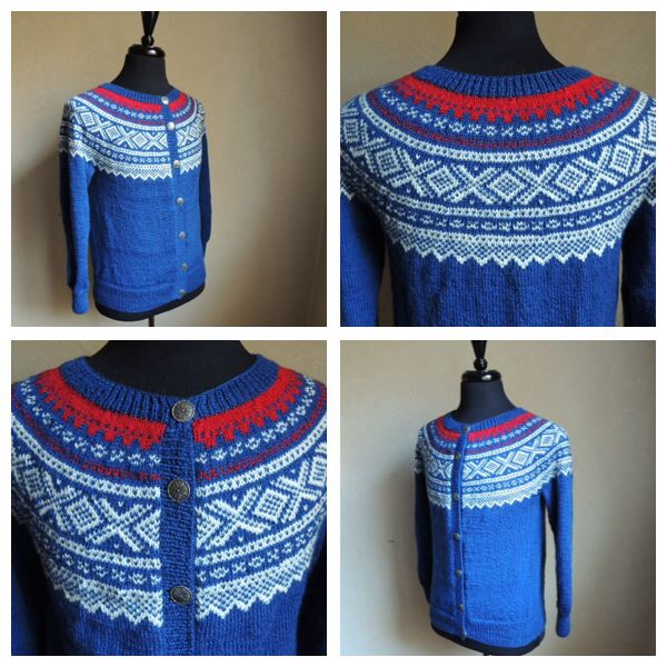 Knitted Marius-cardigan, women style, Size S/M.