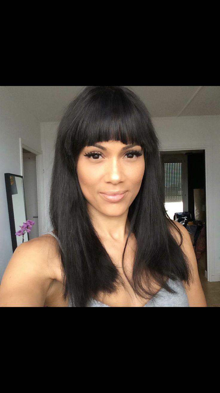 Une perruque brésilienne lisse  Monica 18 avec frange pour Leezy 👌 - 100% cheveux indiens vierges