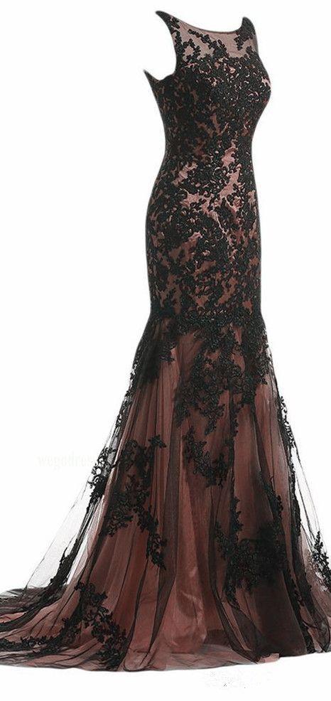 Applique Prom Dress, Mermaid Prom Dress,Applique Prom Dress,Fashion