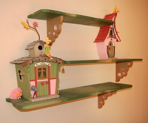 A Wonderful Fairy Bedroom - Shelves to make, bird houses/feeders LOVE THIS!!! ❤️