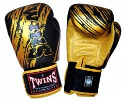 TWINS BOXING GLOVES BLACK GOLD TW 2