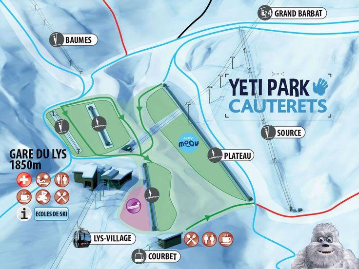 Zona infantil y de debutantes del Yeti Park de Cauterets