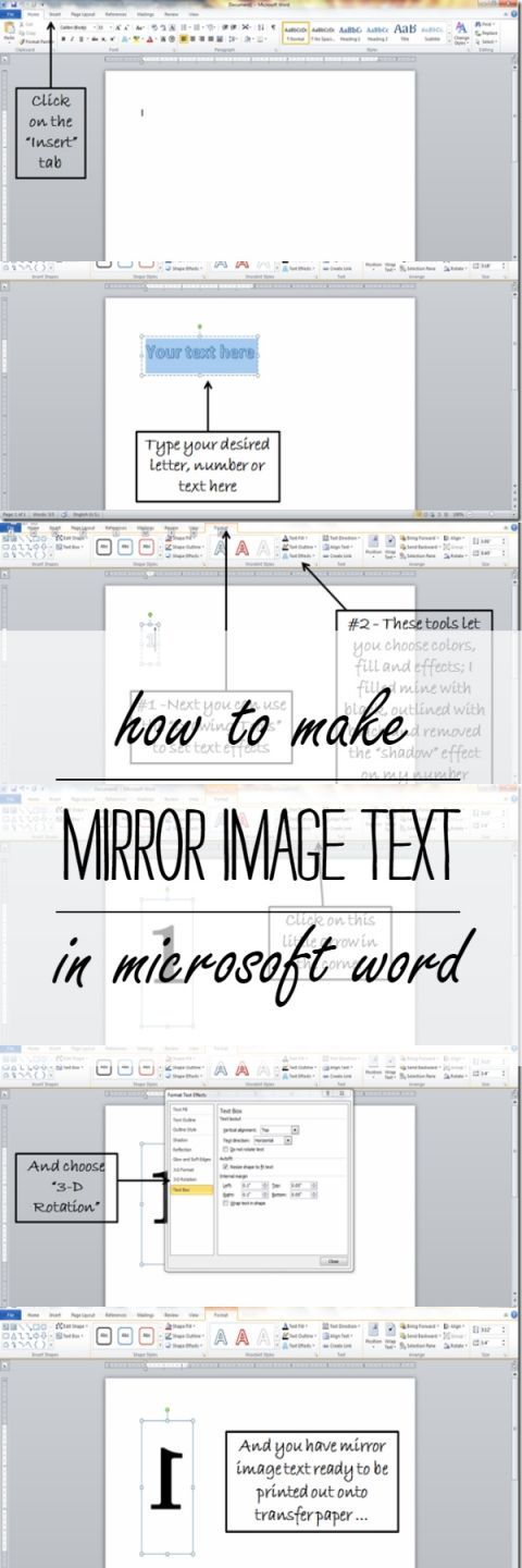 how-to-make-mirror-image-text-in-microsoft-word