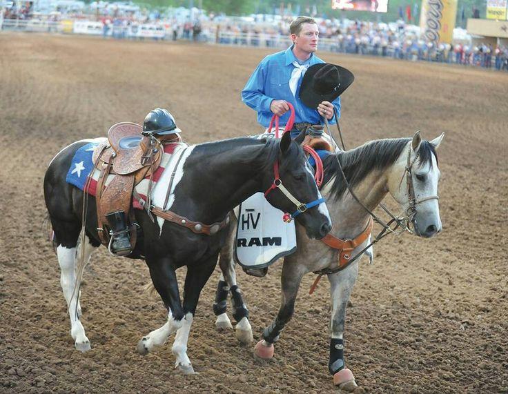 Riderless horse at Prescott Rodeo 2013 in honor of the fallen Hotshots