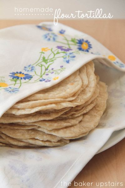 Homemade Flour Tortillas from www.SomewhatSimple.com