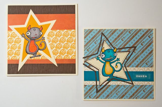 Birthday cards for little boys: Die-cut stars & Doodle Factory image