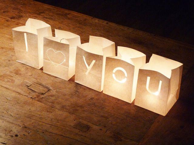 M s de 25 ideas incre bles sobre linternas de velas en - Bolsas de papel para velas ...
