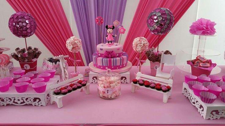 Mesa decorada Minnie Coqueta | Tortas | Pinterest | Mesas