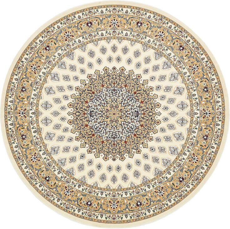 Ivory 10' x 10' Nain Design Round Rug | Area Rugs | eSaleRugs
