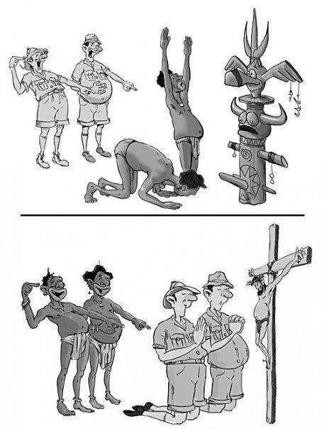 Preconceito religioso: é assim que funciona.    Leia nossos artigos sobre intolerância religiosa na Revista Entremundos: http://entremundos.com.br/revista/tag/intolerancia-religiosa/