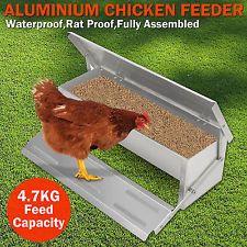 Automatic Feeder Treadle Self Open Aluminium Chicken Feeder Feed Chook Poultry