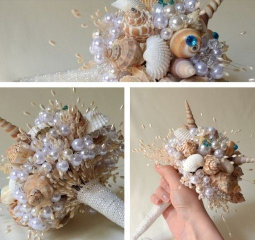 Мастер-класс морские букеты из ракушек